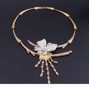 CYNTHIA Dubai Gold-color Jewelry Sets Brand Nigerian Women Accessories Wedding Jewelry Set Fashion Statement Set