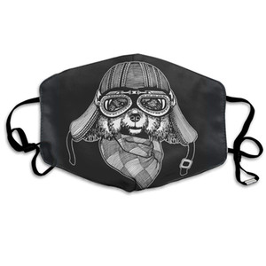 A Dog With Goggles Modern Motorcycle Dog Face Mask Balaclava, Dustproof, Comfortable, Breathable, Fashionable White