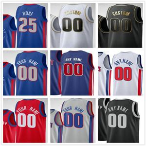 Custom Printed Detroit Blake 23 Griffin Derrick 25 Rose Jerami 9 Grant Killian 7 Hayes Saddiq Bey Men Woman Kids Pistons Basketball Jerseys