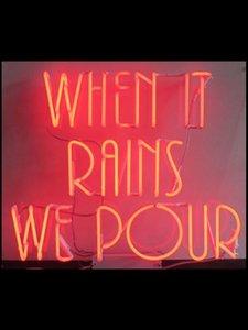biz Tüp Ticari mutlu Lamba resterant sanat ışığı ışık çekin Etki özel pembe reklamını dökmek Yağmur yağdığında için neon İşaret