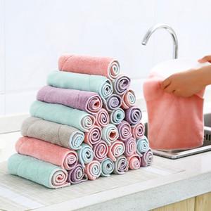 10 teile / los Faser Geschirrtuch Eutrag Duster Waschtuch Hand Tuch Tuch Bambus Waschhandtuch Magie Küche Reinigung Wippe Lumpen 201021