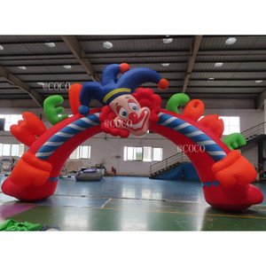 10m width clown Inflatable arch cheap inflatable arches advertising inflatable welcome entrance archway for carnival party
