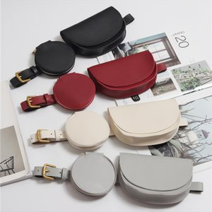 Women 2 Pc Solid Waist Pack Fanny Pack Leather Fashion Waist Belt 2 Piece Set Bolsos Mujer Vintage Lady Fanny Wholesale