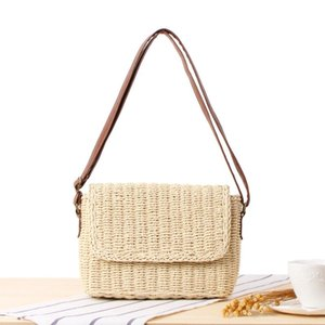 Shopowner New Pattern She Said ins All-match Messenger Weave System Sandy Beach On Vacation Straw Plaited Article Package