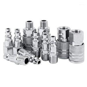 14 adet Hava Hattı Hortum Kompresörü Uydurma 1/4 inç BSP Metal Konnektörler Çoğaltıcı Erkek Kadın Hızlı Yayın Seti1