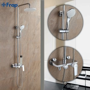 Frap Fashion Style White Shower Faucet Cold and Hot Water Mixer Single Handle Adjustable rain Shower Bar F2431 1011