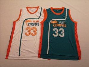 Flint Tropics Film Sürümü # 33 Jackie AY Basketbol Jersey Erkekler