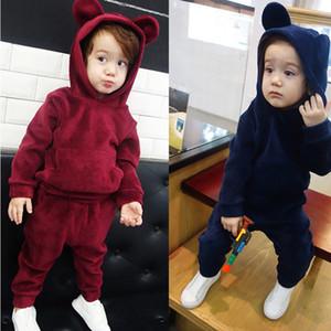 KEAIYOUHUO Детская одежда Зимний костюм Дети Малыша девушки мальчиков Одежда наборы Хлопок Девочки Спортивные костюмы