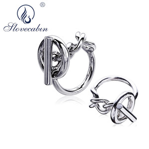 Slovecabin Vintage Men Jewelry Authentic 925 Sterling Silver Lock Wedding Rings bague Femme Marage Argent Rings For Women 201026