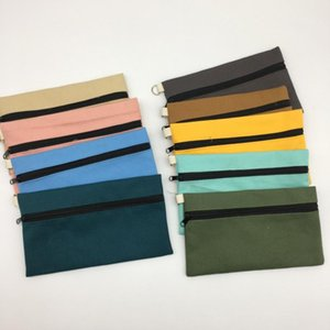 Storage Bag Pencil Case Handbag Makeup Bags Pouches Blank Zipper Cosmetic Phone 12 Canvas Pen Organizer Clutch Colors VT0292 Wrgsv