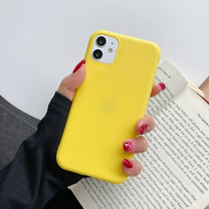 Sile Solid Color Phone Case For Iphone 12 12 Pro Soft Cover Candy Color Iphone 12 Mini Pro Max Q jlltUf