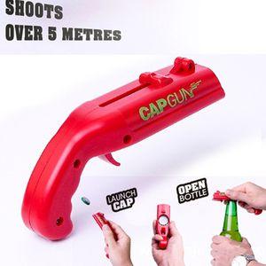 Бутылка Openner розжига Cap Gun Творческий Летучий Cap Launcher бутылки пива открывалка Gun Форма Панель инструментов Drink Открытие Shooter VT0073