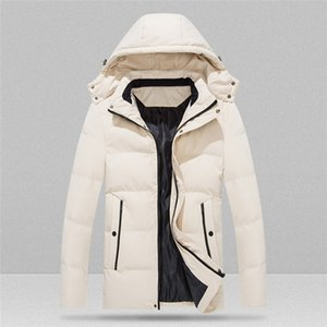 Plus Size Mens Designer Down Winter Warm Loose Hooded Zipper Thicked Padded Jacket Hat Detachable Men Casual Coats 8XL
