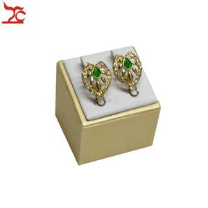 Новая модная ювелирная одежда Держатель для ювелирных изделий Gold / White PU Braclet Holder Holding Ring Bangle Bangle Storage Организатор