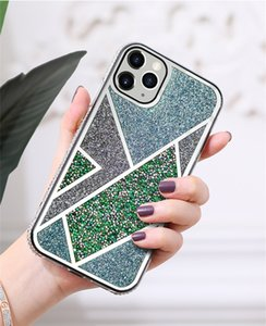 Diamond Tone Case Bling Blitter Back Cover Protector для iPhone 12 Mini 11 Pro Max X XS XR XS MAX 7 7P 8 8PLUS 6S