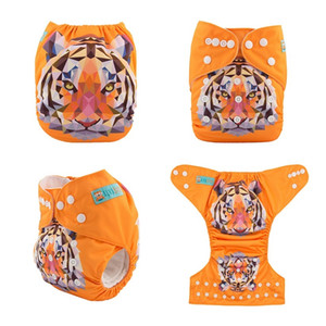 (50 pieces lot) ALVABABY Position Washable Cloth Diapers with Microfiber Insert 201020