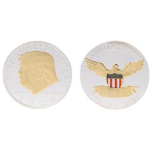 Donald Trump Coin American President Monnaies commémoratives Gardez l'Amérique Grand Badge d'argent Badge Silver Fournitures AHF2844
