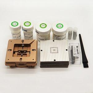 90mm Alüminyum Alaşım BGA Reballing Istasyonu BGA Reball Kiti Manyetizma Kilidi 362 adet Evrensel BGA Stencil Dikim Jig Düzeltme