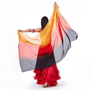 Производительность танцевальная одежда Bellydance аксессуары Свет текстуры Silk Veil шали шарф женщин костюмы танец живота вуали 8м / м