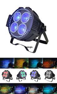 4 pieces 4x60w RGBW 4 in1 and 192x0.2W 3IN1 RGB ring cob LED mini par wash wall LED stage cob par light