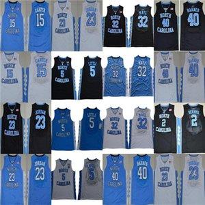 Vince Carter Unc Jersey, Carolina do Norte # 15 Vince Carter Azul Branco Costurado NCAA Colégio Basquete Jerseys, 23 Michael J College