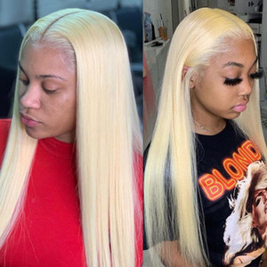 Blond Wig Human Hair Wig Brazilian Straight Remy Pre-picked Lace Part Short Frontal Wig Long For Women NEW