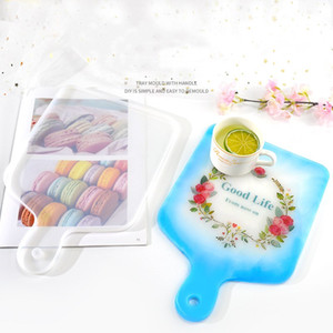 DIY Hand Handle Tray Mold Crystal Epoxy Mold Compote Coaster Japanese Dinner Plate Silicone Resin Compote