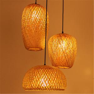 Sudeste Asiático vime lustre Art Rattan bambu lustre Restaurante Hotel Club Sala Art Decor madeira pingente lâmpada Luminárias