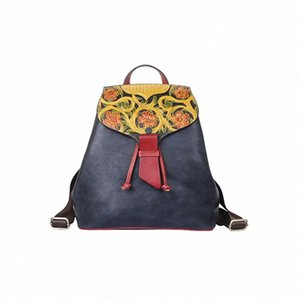 women Backpack Genuine Leather Solid Color Leisure High Quality Shoulder Bag Women Small Travel Backpacks Mi7Y#