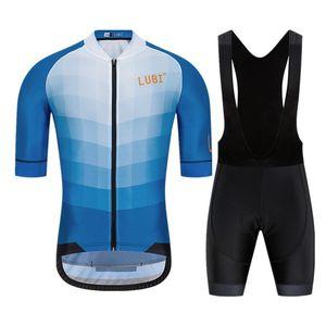 Lubi Hommes Summer Pro Cycling Jersey Set Porter une éponge haute densité Éponge anti-UV Collants VTT Kit de vélo Vêtements Vêtements Vêtements
