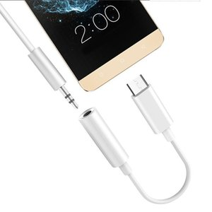 Type C Male To Dc 3 .5mm Female Earphone Cable Adapter Usb 3 .1 Usb -C Male To 3 .5 Aux Audio Female Jack For Huawei Iphone Smart Android Ph