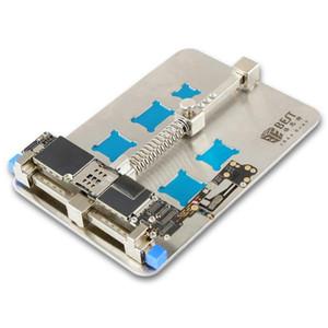 Best- 001D Soldadura de la placa de circuito de acero inoxidable Desoldar el soporte de reparación de PCB de soldadura de la herramienta de reparación de teléfonos móviles