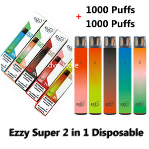 Ezzy Super 2 in 1 Disposable Vape Electronic Cigarette Disposable Device 2000 Puffs 6.5ml Pod 2 Vaping Experience With One Pen