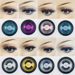 Mink False Eyelashes Natural Long Thick Soft Winged Lashes Makeup for Eyes Handmade Colorfull Fake Eyelash