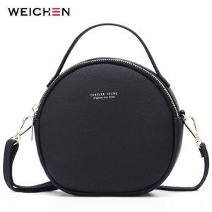 Weichen nueva circular las mujeres del diseño del hombro del bolso de cuero Crossbody de bolsas de mensajero femenino Ronda Bolsa manera de las señoras bolso de 0928