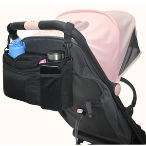 Baby Bag with Cup Holder Hooks Shoulder Strap Bottle Holder Mother Maternity Bag Toddler Stroller Accessories