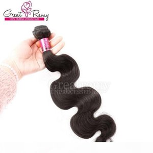 1 Piece virgin Mongolian Hair Extension 7A Body Wave Human Hair Weaves Long Time Lasting Natural Hair Dyeable Greatrmy Drop Shipping