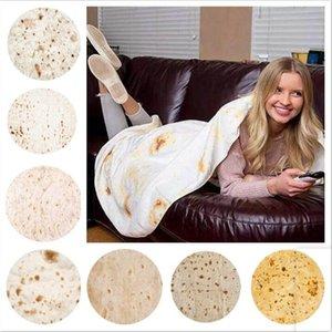 Tortilla Decke Brief Druck Teppich Runde Burrito Kleine Teppich 3D Bedruckte Klimaanlage Decke Weiche Yoga Matte Teppichtuch LXL1207DXP