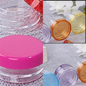 Plastic Small Round Separate Case Smooth Lady Recyclable Cosmetic Jars Sample Sack Empty Containers Food Grade New Arrival 0 2mc F2