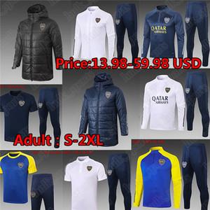 2020 2021 Maradona Boca Juniors Soccer Jersey Pullsuits Sets Ensembles Adulte Hommes Vestes d'hiver Vêtements rembourrés Camisetas Training Polo