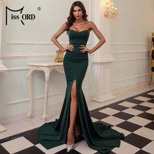 Missord 2020 Sexy Strapless Evening Party Dress Female Wrapped Chest Asymmetric Maxi Dress Backless Long Women Dresses FT1683-3