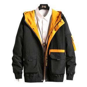 Uomo Cargo Bomber Designer Giapponese Steetwear Herfst Big Bags Harajuku Hip Hop Windjack Jassen Moda coreana, GA401