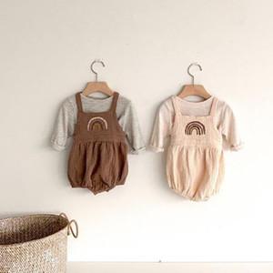MILANCEL Babykleidung neugeborene Babykleidung Baby-Regenbogen-Body infant Kleidungssatz Y1105