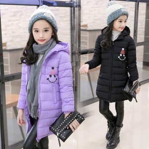 medium length new winter clothes thickened down jacket for children of CUHK Girls' cotton padded