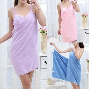 Home Textile Towel Women Robes Bath Womens Wearable Towel Dress Lady Fast Drying Beach Spa Magical Nightwear Sleeping Blanket