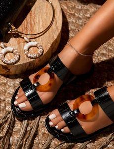 zHGK Original Top Quality Rabbit Fur Leather Slippers New Winter Hot Fashion Flip Ladies Warm Sandals Home Women Shoes fashion Flop