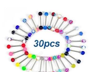 Mixed Color Acrylic Tongue Stud Ring For Women Candy Color Piercing Tongue Piercing Ring Studs Barbell wmtcnE bdegarden