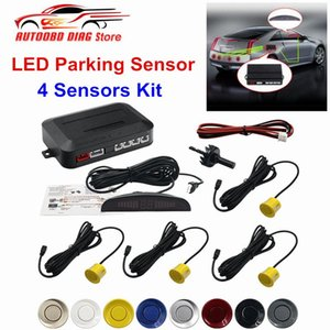 Auto Car LED Parking Sensor Kit 4 Sensors 22mm Backlight Display Reverse Backup Car Parking Radar Monitor Detector System 12V