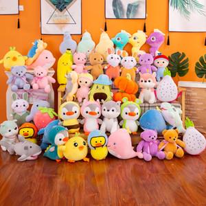 Wholesale Multi Styles Plush Toys Stuffed Animal Bunny Dinosaur Bear Fruit Cute Dolls for Kids New Year Birthday Gift Wedding Giveaway Gifts
