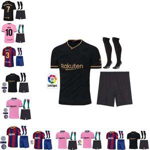 neue Thailand-Qualität BARCELONA 19 20 21 für Erwachsene + Kinder-Kit Socken Fußball-Trikot camisetas futbol 2020 2021 BAR Fußballfußballhemden